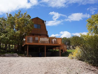 Photo for Pine valley ut cozy cabin located in quiet cul de sac perfect for family getaway