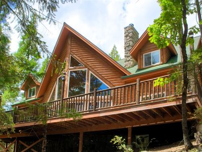 Photo for STUNNING lodge with river views, pool table, hot tub, all INSIDE Yosemite.