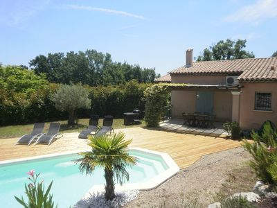 Photo for Recent secure modern villa, air conditioned, 120 m2, private pool, garden