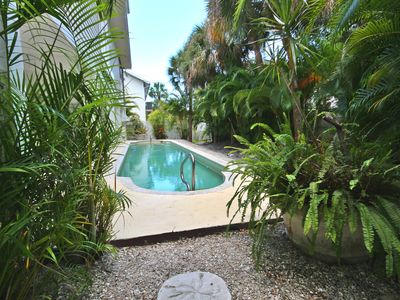 Photo for Spacious Mid Island 3 Bedroom Key West Pool Home located 1/2 block to the beach