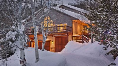 Creekside Chalet in Winter