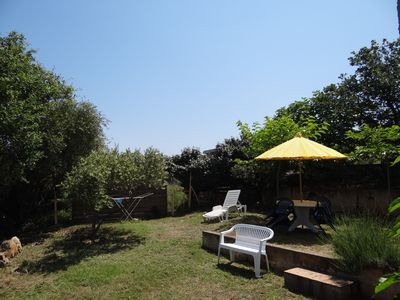 Photo for rental with sea view in ground garden villa, 200m from the beach of Bodr