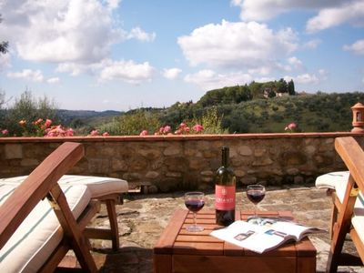 Relax and enjoy the Tuscan view from the terrace