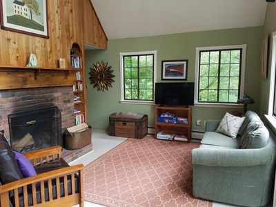 Photo for Cozy Quechee Retreat with 2 Bedrooms, Split Ductless A/C and Vermont Furnishings