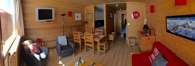 Photo for APARTMENT 55 M2 - AT THE FOOT OF TRACKS - LA PLAGNE CENTER