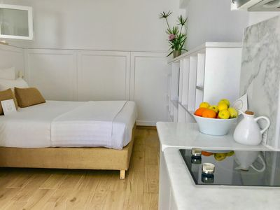 Photo for Almyrida sands- STUDIO ALPHA, 100 m from the beach of Almyrida on foot