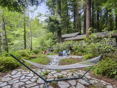 Photo for Sequoiatude~Secluded Peaceful Creeskide Forest Retreat! Dog Friendly!