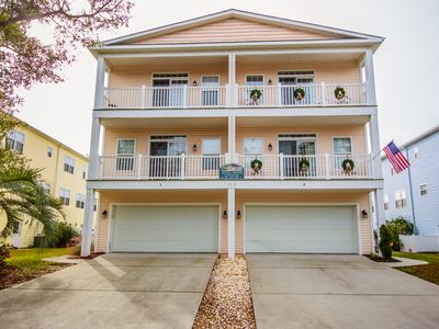Photo for Sleeps 18! Big 5-BR Home w/ Private Pool - Short Walk to Windy Hill Beach!