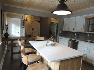 Photo for Beautiful Chalet in the Forest, 5 min walk to Lake Michigan Shore.