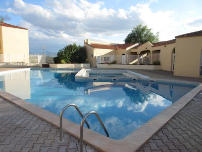 Photo for Apartment with terrace at La Mer, access swimming pool & tennis CANET ROUSSILLON