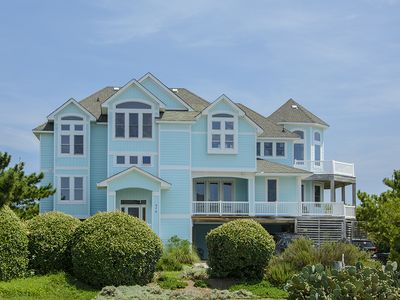 Photo for Harpers Point: Oceanfront, 6 bedrooms, private pool, hot tub, elevator, walkway to beach.