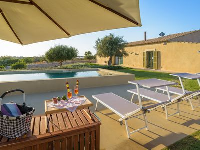 Photo for Psyke, villa with pool in front of the golf courses