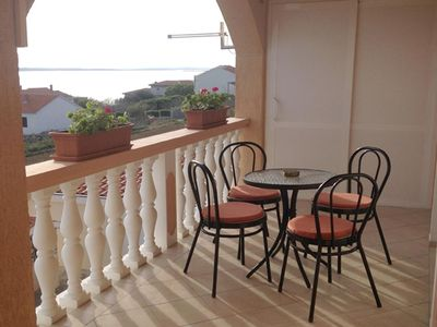 Photo for One bedroom apartment with balcony and sea view Rtina - Miočići, Zadar (A-13072-a)