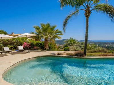 Photo for Fantastic Luxury Villa with Guest House, Wi-Fi, Pool, Garden & Sea View; Parking Available