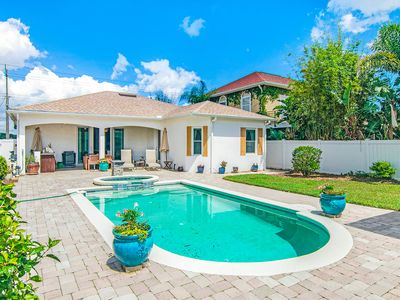 Photo for Manicured home & pool house w/ private pool & spa - steps to ocean beach!