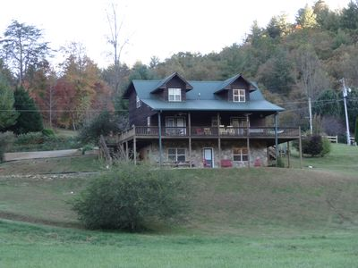Front view from valley