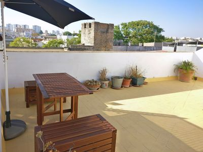 Photo for Central 3 Bedroom Duplex apartment with roof top terrace !