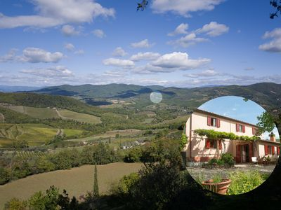 Photo for Quiet country house in the heart of the Chianti.