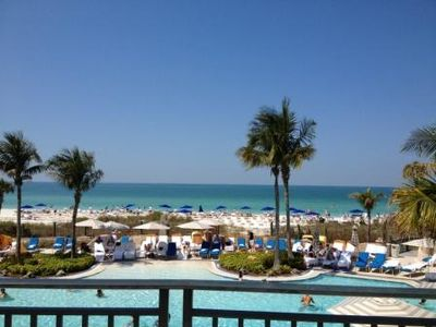 Ritz Carlton Beach Club Pool overlooking the Gulf of Mexico