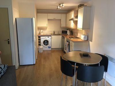 Photo for Lovely modern 1 bedroom flat with sofa bed 250 metres from Hitchin station