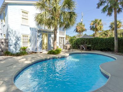 Historic Cottage with Large Private Heated Pool Only 1 Block to the Beach