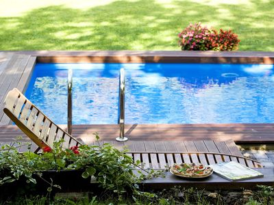 Photo for Cosy apartment for 6 guests with hot tub, A/C, WIFI, private pool, TV, pets allowed and parking
