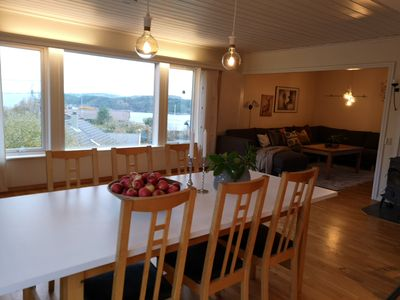 Photo for Bright and large residence with many rooms and sea views near Bergen