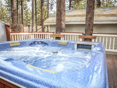 Photo for FREE 3rd NIGHT!  Adorable! PRIVATE HOT TUB. Close to LAKE