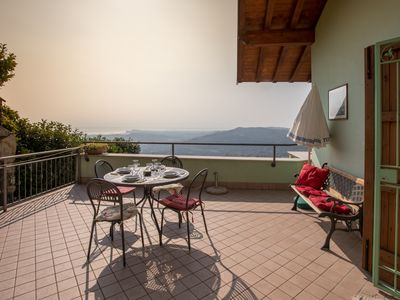 Photo for Typical Old-style Italian house with amazing view