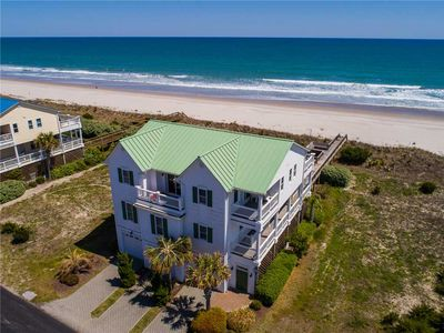 Photo for OCEANS 111: 4 BR / 5 BA oceanfront in Topsail Beach, Sleeps 8, Elevator