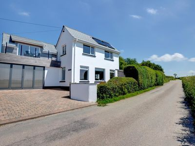 Photo for Holiday home perched up on the hill with breath-taking panoramic view over Devon