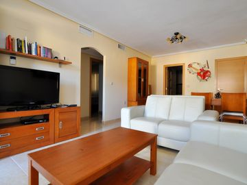 Luxury family-friendly apartment with rooftop pool in secluded Vega Baja region