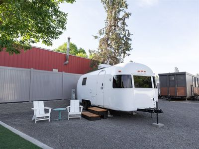 Photo for She's our modern gal, The Olivia. A sweet 24-footer built in 1974, this Argosy Airstream has recei
