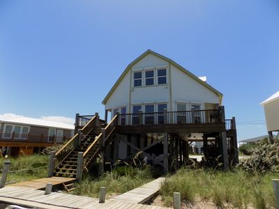 Waterfront home on the Mississippi Sound side of Dauphin Island. See DI Bridge.