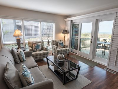 Photo for Luxury lower level end unit. Best views. Beachfront. Amenity Cards