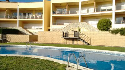 Photo for Duplex Apartment With  WIFI, Communal Pool, Great Views Of The Bay Of Roses!!