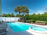 A lovely home with a wonderful pool and spa in a quiet gated community which is very close to beach