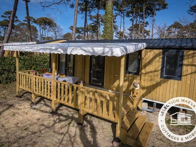 Photo for Camping La Forêt du Pilat *** - Maeva Camping - Mobile Home Premium 4 Rooms 6 Air Conditioning