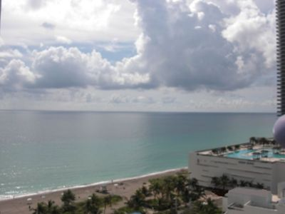 Photo for Hollywood Beach Ocean View Condo with Pool