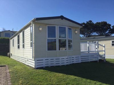 Photo for Four berth caravan perfectly situated for Praa Sands Beach