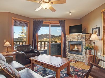 Photo for Sheep Mountain 20B - 2 Br condo with private hot tub, Marys Lake and mountain views!