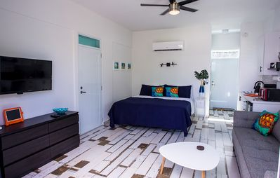 Photo for ★ Happy Turtle Loft | Eco-Friendly Studio steps from Beach | Large Balcony ★