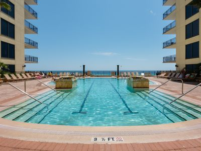 Photo for 50 Steps To The Beach! Heated Pool & Outdoor Spa! Mini-Theater! Beach View!