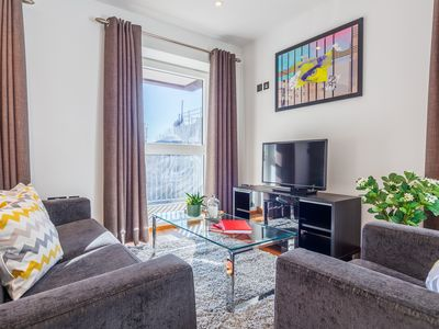 Photo for Shoreditch Square 2B apartment in Hackney with WiFi, balcony & lift.