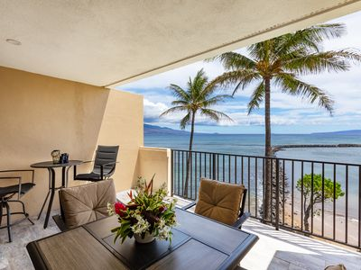 Photo for Maui Perfect Ocean Front New Remodel Split A/C Washer/Dryer *Milowai 410*