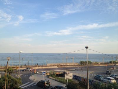 Photo for Spacious apartment with sea views 20min from Barcelona