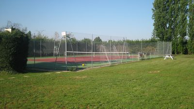 Tennis court and end of the garden