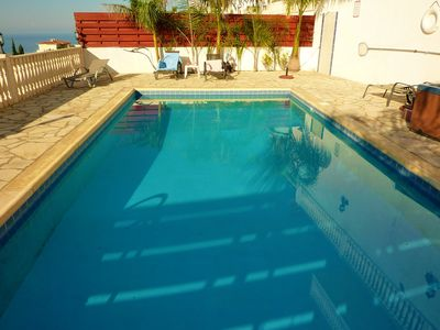 Photo for 3 Bed Villa. Private pool. Jacuzzi. WiFi. Panoramic views.