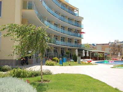 Photo for Spacious beach apartment in Sunny Beach, sleeps 2-4, next to beach and Nessebar