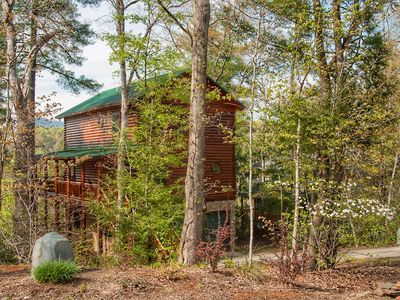 Photo for Log home on the river with mountain views